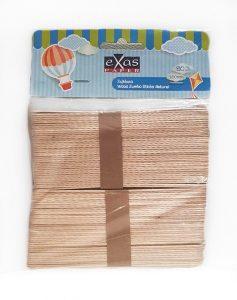 Ξυλάκια ,EXAS, 15cm, Φυσικό Χρώμα, 80τεμ