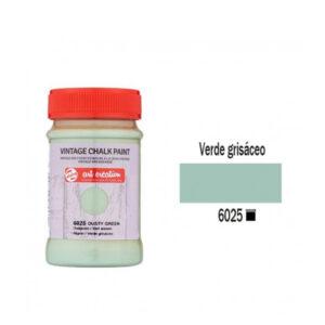 Χρώμα Κιμωλίας, Vintage Chalk Paint, 6025, Dusty Green, 100ml, Talens