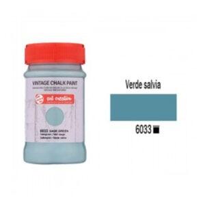 Χρώμα Κιμωλίας, Vintage Chalk Paint, 6033, Sage Green, 100ml, Talens