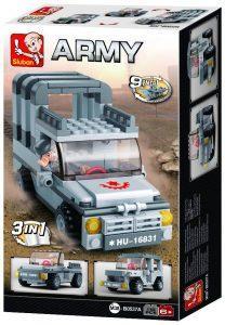 Τουβλάκια   Jeep 3-in-1 , 110 τεμ, Sluban